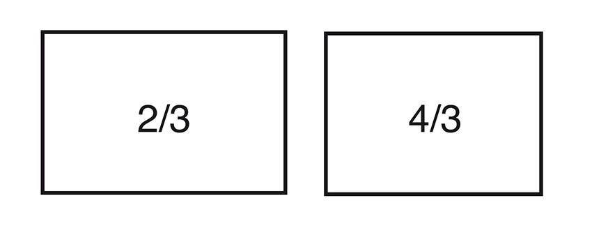 Cadres et format d'image pour le principe des tiers